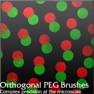 Orthogonal PEG Brushes