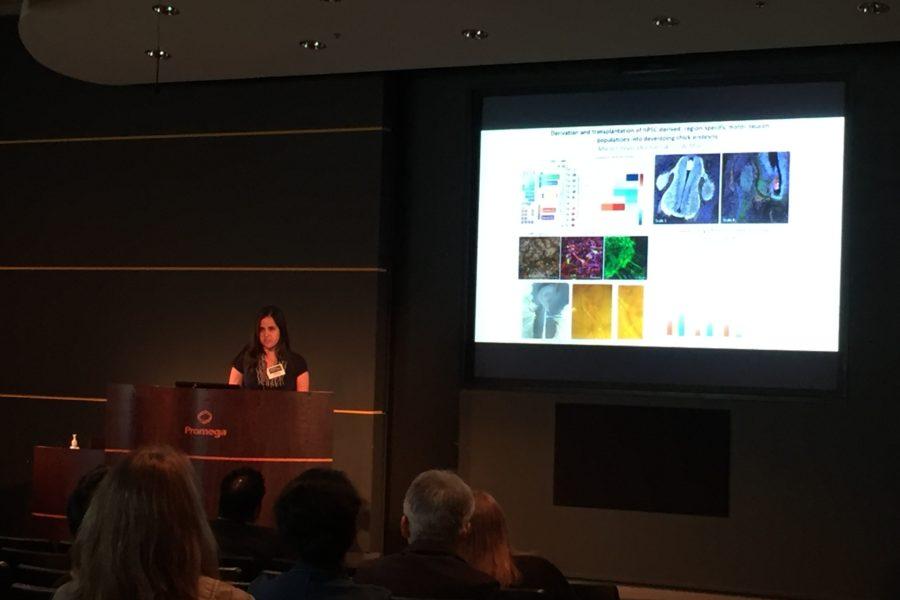 Maria presenting at SCS